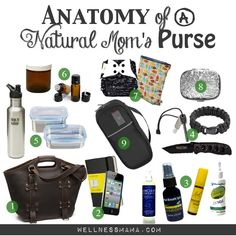 Anatomy of a Natural Moms Purse- What I Always Carry - Wellness Mama