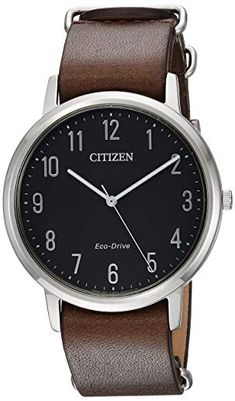 sports shoes d4169 4cd23 The font for the numbers and the simple hands have a nice modern feel with  a classic look. Citizen Men s  Eco-Drive  Quartz Stainless ...