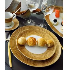 Assiette à dessert en porcelaine Daya doré Ø 21 cm