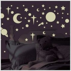 258 New Glow in the Dark Stars Suns Planets Wall Decals Kids Bedroom Stickers * Check out this great product. (This is an affiliate link) Bedroom Themes, Kids Bedroom, Bedroom Decor, Bedroom Ideas, Nursery Ideas, Kids Rooms, Pirate Bedroom, Nursery Decor, Disney Wall Decals