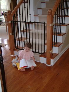 The Stairway Special Safety Gate is great for the top of stairs but also for any area of your home. Shop all baby gates and safety gates online now! Banister Baby Gate, Baby Gate For Stairs, Barn Door Baby Gate, Diy Baby Gate, Stair Gate, Safety Gates For Stairs, Child Safety Gates, Custom Baby Gates, Best Baby Gates