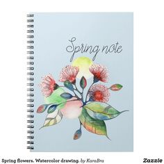 Spring flowers. Watercolor drawing.