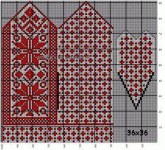 Et utvalg av kretser 1 Double Knitting Patterns, Crochet Mittens Free Pattern, Knit Mittens, Knitting Charts, Knitted Gloves, Knitting Stitches, Knitting Needles, Fair Isle Knitting, Knitting Accessories