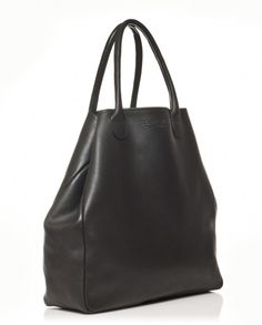 Sac cabas cuir mou format 48h noir   48h soft leather tote bag black -  Bonnie and Bag Marque Française de cabas et sacs dcfef784c95