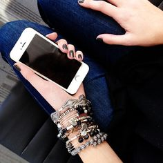 Rocker Chic! #ManiMadness Diamond Bracelets, Bangles, Rocker Chic, Alex And Ani, Jewelry Collection, Indie, I Am Awesome, Charmed, My Style