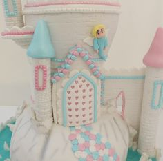 Fairy castle cake made as part of a display for Cake International with Paul Bradford Cake School #fairycastle #cakesforkids #displaycake Fairy Castle Cake, Cake International, Cookie Gifts, Bradford, Celebration Cakes, How To Make Cake, Cake Toppers, Children, Kids