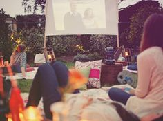 Outdoor cinema party in Adult parties such as dinners and celebrations, anniversaries and birthdays