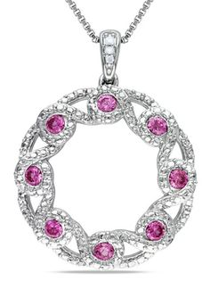 On ideeli: AMOUR Diamond and Sapphire Necklace