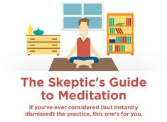 """Although I'm a certified meditation teacher, I grew up a skeptic and I understand where the skeptics are coming from. I respect their wariness of various spiritual practices, especially if it falls into the """"new Read more… Online Meditation, Easy Meditation, Meditation Benefits, Guided Meditation, Sleep Deprivation Effects, Abc News Anchors, Learn To Meditate, How To Create Infographics, Dealing With Stress"""