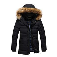 JOOBOX New Long Winter Men Clothing brand Casual Jacket And Cotton Parkas Male Big men Coat fur hooded men winter coat Mens Overcoat, Winter Overcoat, Mens Winter Coat, Mens Clothing Brands, Fur Clothing, Long Winter Coats, Winter Jackets, Plus Size Men, Big Men