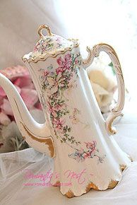Beautiful hot chocolate pot