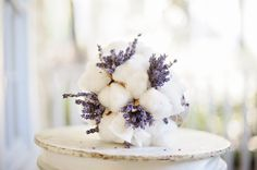 Purple and Aqua Vintage Southern Wedding