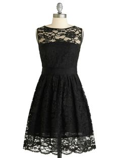 lace black dress Would be cuter if there wasn't extra lace at bottom