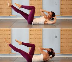 This training of 5 exercises for the abdomen, lasting no more than 2 minutes, it's ideal. Here is a program for a beautiful abdomen! Abs Pilates, Pilates Workout, Short Workouts, Toning Workouts, Health And Fitness Tips, Fitness Diet, Ab Routine, Abdominal Exercises, Get In Shape
