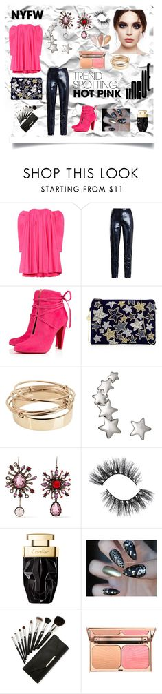 """""""#NYFWHotPink and #ContestEntry"""" by explorer-14673103603 on Polyvore featuring Calvin Klein 205W39NYC, Diane Von Furstenberg, Christian Louboutin, From St Xavier, Valentino, Alexander McQueen, Rituel de Fille, contestentry and NYFWHotPink"""