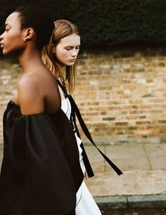 Two for the Road. Mayowa Nicholas and Julie Hoomans photographed by Matteo Montanari for WSJ January 2016