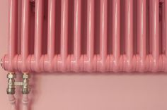 Pink radiator & wall
