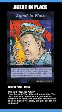 Illuminati Card Game only Published in 1995 - ❥ Illuminati: New World Order - Agent in Place~ they're everywhere