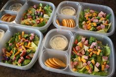 chef-salad-bento for kids lunches