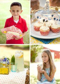 county fair party...cupcakes are adorable!!