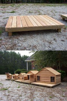 Raised platform for dog house or cat house or grill