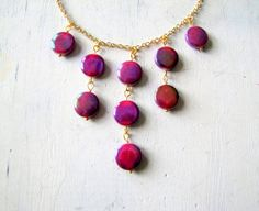Orchid Necklace Waterfall Necklace Radiant Orchid by TwigsAndLace, $38.00