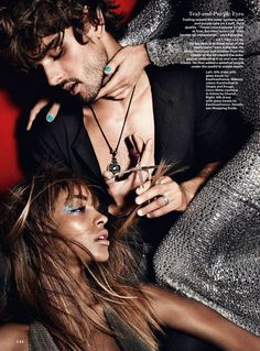 ☆ Jourdan Dunn & Nadja Bender | Photography by Mario Testino | For Allure Magazine | September 2014 ☆ #Jourdan_Dunn #Nadja_Bender #Mario_Testino #Allure_Magazine #2014