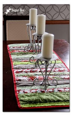 Sugar Bee Crafts: Holiday Strip Table Runner