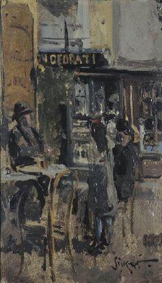 Walter Richard Sickert, The little tea shop, Dieppe