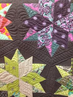Fall 2013 Quilt Market - Recap #2 - The Tula Pink Edition | Jaybird Quilts - Night Sky