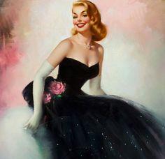 Pin Up Girls Vintage © Edward Runci Pin Up Vintage, Mode Vintage, Vintage Beauty, Vintage Ladies, Vintage Fashion, Vintage Glam, Glamour, Dibujos Pin Up, Pin Up Illustration
