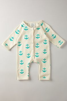 SoftBaby Organic Long Sleeve Romper (Pairs perfectly with an Honest Anchor diaper!)
