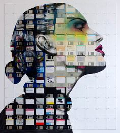 Nick Gentry - recycled floppy disks