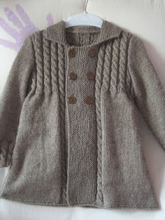 Miss Jackets: Oktober 2011 – Stricken sie Baby Kleidung Knitting For Kids, Baby Knitting Patterns, Baby Patterns, Free Knitting, Knitting Projects, Knitted Baby Clothes, Knitted Hats, Tricot Baby, Baby Coat