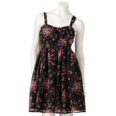 Normally, I never wear black (unless in theatre since I'm stage manager), but this cute dress is so cute and girly! I love the silhouette. :-)