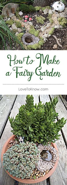 Fairy gardens are all the rage these days, mainly because they're so adorable, and they make a whimsical point of interest in nearly any garden landscape. You can create a very simple fairy garden in a planter, or you can create a larger scene in an established garden if you like. You can learn how to make a fairy garden of your own with just a few basic elements by following specific projects and using helpful tips. | How to Make a Fairy Garden from #LoveToKnow