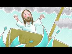 Sunday School Lesson: Jesus Calms the Storm on the Sea of Galilee Preschool Sunday School Lessons, Sunday School Games, Preschool Bible, Bible Activities, Sunday School Crafts, Preschool Ideas, Bible Stories For Kids, Bible Story Crafts, Bible For Kids