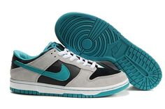 Nike Dunk SB Low Männer Schuhe Lichtgrau Schwarz Grün