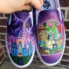 You NEED Hand Painted Disney Shoes For Your Next Trip In one of my recent posts about what to pack on a Disney vacation I listed comfortable shoes as a must-have item. Many of my recent Disneyland trips have been more laid back so my go to shoe has be… Disney Painted Shoes, Painted Canvas Shoes, Painted Vans, Custom Painted Shoes, Disney Shoes, Hand Painted Shoes, Disney Outfits, Disney Clothes, Disney Vans