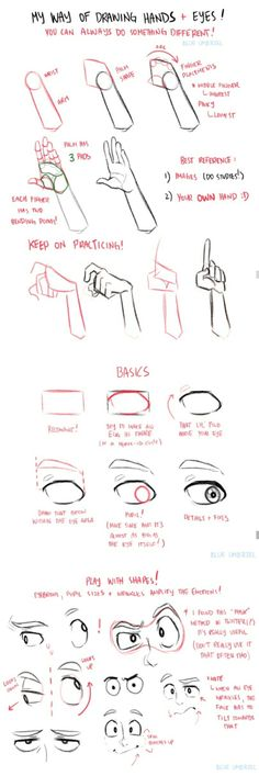 Drawing hands and eyes