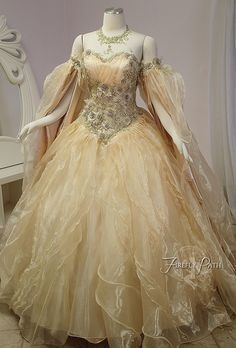 We have been a little quiet recently because all our current commissions have been bridal gowns! We can't wait to share them after their big day ♥ Until. Fairytale Dress, Fairy Dress, Robes Disney, Prom Dresses, Formal Dresses, Wedding Dresses, Fantasy Gowns, Medieval Dress, Beautiful Gowns
