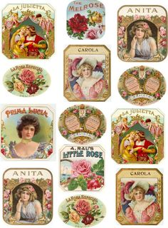 vintage bakery boxes  | the digital bakery ♥: Vintage labels on bottles, boxes, cards and so ...