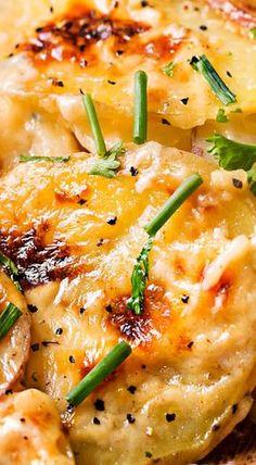 Garlic Parmesan Cheesy Scalloped Potatoes