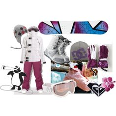 awesome snowboard outfit #5 - Polyvore love love love the board