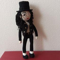 Michael Jackson Crochet Dolls, Michael Jackson, Unisex, Halloween, Crochet Doilies, Spooky Halloween
