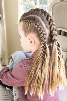 30 Cute Hairstyles for Girls – The Perfect Options for Everyday – braids Cute Girls Hairstyles, Box Braids Hairstyles, Everyday Hairstyles, Best Wedding Hairstyles, Sweet Hairstyles, Lazy Hairstyles, Blonde Hairstyles, Layered Hairstyles, Casual Hairstyles
