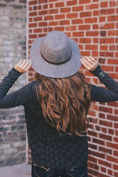 One of our favorite accessories for fall is the felt hat. #felthat #hat #fallfashion