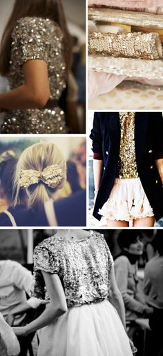 I want to be the kind of person who wears sequins on everything. I'm just not glittery enough quite yet. Look Fashion, Fashion Beauty, Womens Fashion, Looks Style, Style Me, Glitter Make Up, Sparkles Glitter, Gold Sequins, Gold Sparkle
