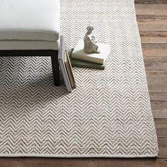 Jute Chenille Herringbone Rug, Natural Slate - modern - rugs - West Elm