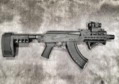 Romanian Mini Draco AK-47 pistol with SBX Pistol Stabilizing Brace  #SBX #SigSauer